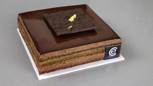 Tarta de Chocolate y Mandarina con Ganache de caramelo