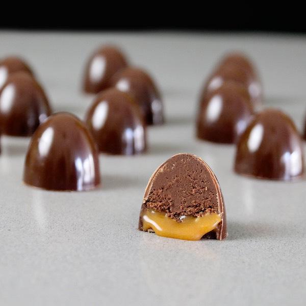 Bombones de Chocolate y Caramelo, como prepararlos.