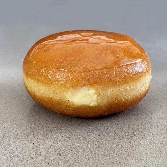 Donuts rellenos de Crema de Vainilla y Caramelo crujiente