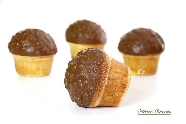 Mini Brioches con cobertura de chocolate crocante