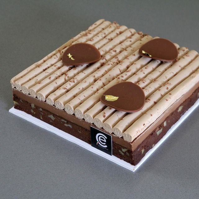 Brownie con Cremoso de Café y Ganache de Mascarpone