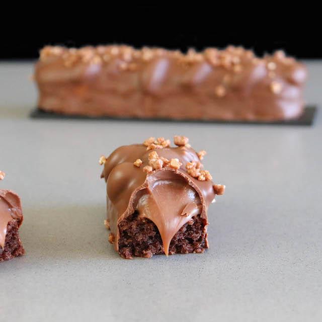 Barritas de Caramelo y Chocolate con Cacahuetes