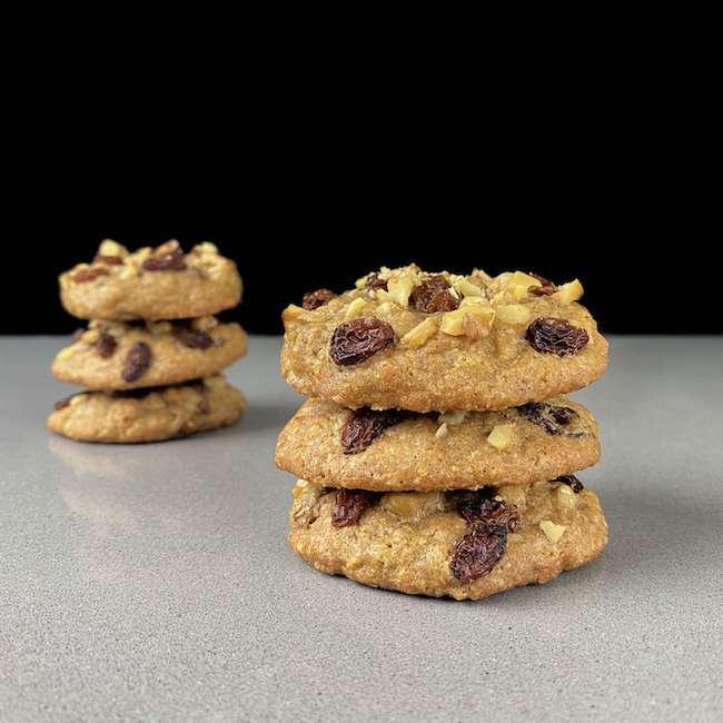 Cookies de Canela y jengibre con nueces y pasas