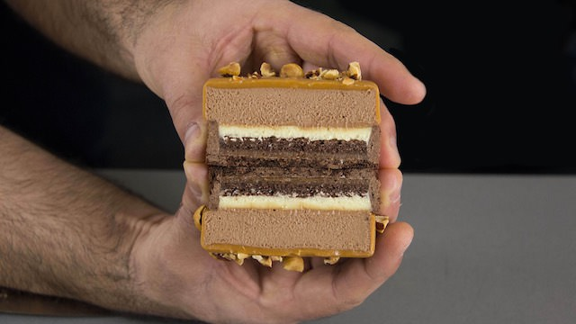 Tartaletas de Gianduja Mango y Caramelo