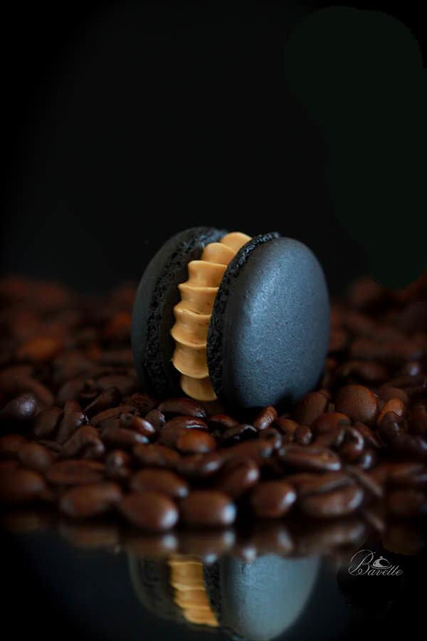 Receta de macarons de café