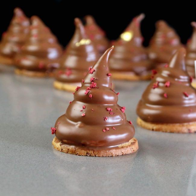 Marshmallow de Frambuesa con cobertura de Chocolate
