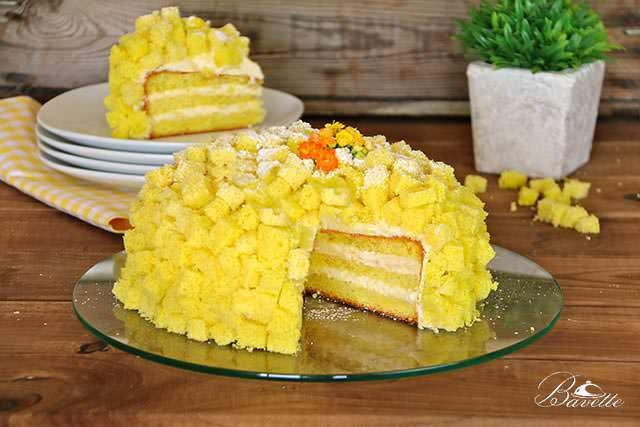 Receta de torta mimosa, con crema Madame