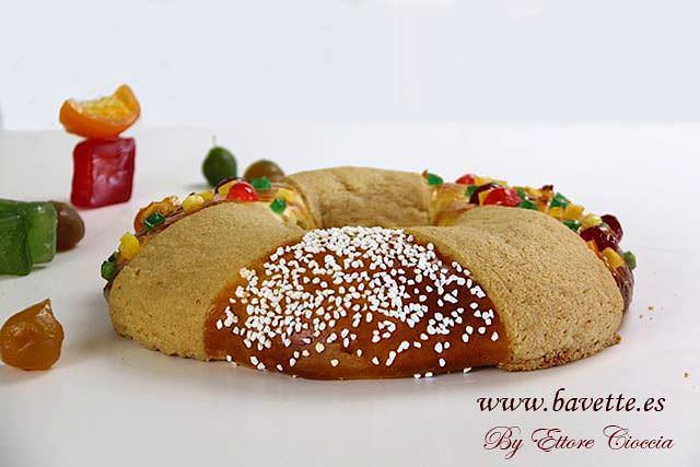 Roscón de Reyes con craquelín