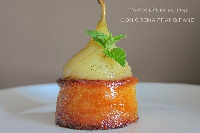 Tarta bourdaloue con crema frangipane